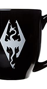 SKYRIMコーヒーマグブラック  Skyrim coffee mug black