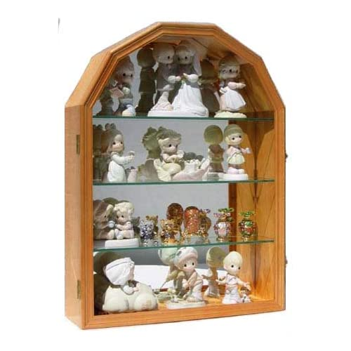 Collector Display Case Wall Curio Cabinet for Figurines, Curios, and Collectibles, CD16-OA