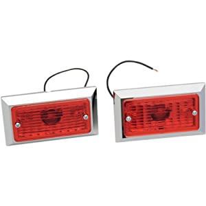 Chris Products Marker Lights - Single Incandescent with Red Lens 0714R-2