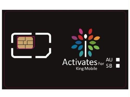 最新iOS6.1.3にも対応! au専用 iPhoneアクティベートカード(キングモバイル特注仕様)【MicroSIMサイズ/通常サイズに変換可能】