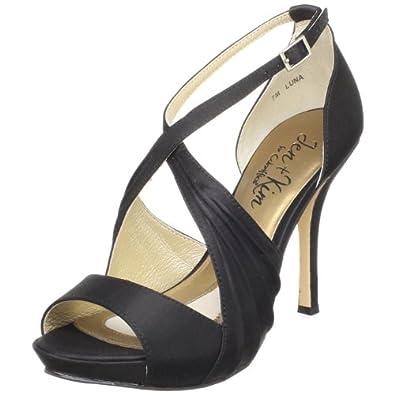 Jen + Kim for Coloriffics Women's Luna Platform Sandal,Black,6 M US