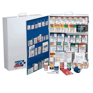 Tactical First Aid Kit: First Aid Only 5 Shelf Industrial First Aid Station with Pocket Liner for 200 Plus Person by First Aid Only