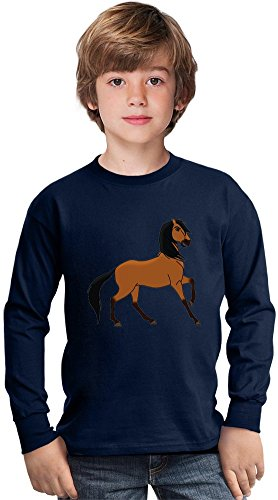 spirit stallion of the cimarron anime Amazing Kids Long Sleeved Shirt by True Fans Apparel - 100% Cotton- Ideal For Active Boys-Casual Wear - Perfect For A Present Unisex 3-4 years