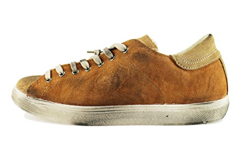 BEVERLY HILLS POLO CLUB sneakers uomo 42 EU arancione tela camoscio AH992-B