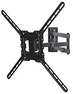 videosecu articulating lcd tv wall mount long arm extension up to 24 mount bracket. Black Bedroom Furniture Sets. Home Design Ideas
