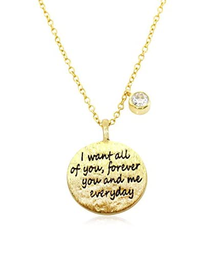 Bronzo Lusso 14K Gold-Plated All Of You Necklace with a Bezel-Set CZ
