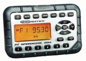 Jensen Radio JHD910 - Waterproof Mini AM/FM/WB/Stereo With Aux-in ATV/UTV