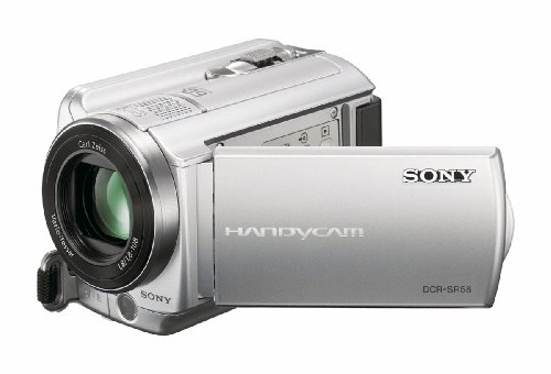 Sony DCRSR58EX Handycam Camcorder With Built-In 80GB HDD - Silver