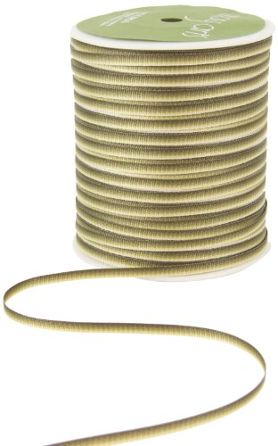 May Arts 1/8-Inch Wide Ribbon, Olive Ombre