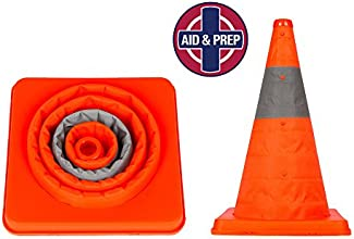 DECEMBE RSALE Orange Traffic Safety Collapsible Cones -Reflective for Roadside Emergency and Great f