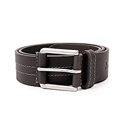 Wolux Men's Black Leather Belt Small