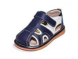 HLT Toddler/Little Kid Boy Summer Fun Navy Squeaky Sandal [US 8 / EU 24]