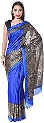 Mahek Women's Silk Saree with Blouse Piece (Royal Blue)