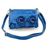 Rosette Clutch Cross-body Handbag
