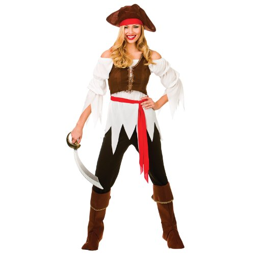 New Pirate Shipmate - Adult Ladies Costume Lady: XL (UK:22-24)