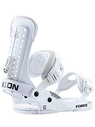 Union Force Snowboard Bindings Matte White Mens Sz L/XL (10.5-14)