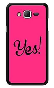 "Humor Gang Yes! Pink Printed Designer Mobile Back Cover For ""Samsung Galaxy Grand 2"" (3D, Glossy, Premium Quality Snap On Case)"