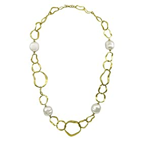 Majorica Jewelry 17-inch/White-Pearl Vermeil Chain Necklace