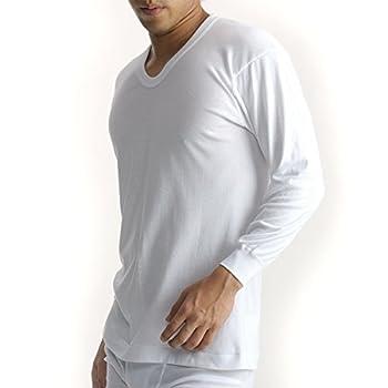 (ビー・ブイ・ディ)B.V.D. Finest Touch EX 綿100% 日本製 抗菌防臭 U首8分袖Tシャツ(S,M,L)GN318 GN318 WH ホワイト L