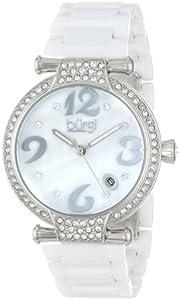 Burgi Women's BUR071WT Quartz Date Ceramic Bracelet Watch