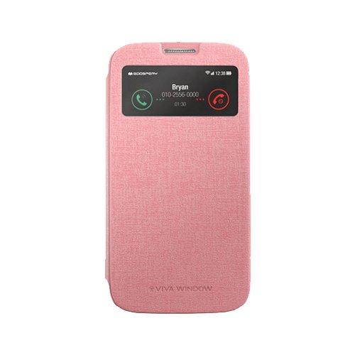 Galaxy S4 ケース Mercury Goospery Viva View Case ギャラクシー S4 ビュー フリップ ケース ピンク(Pink) / SC-04E 携帯 スマホ スマートフォン モバイル ケース カバー カード 収納 ポケット スロット