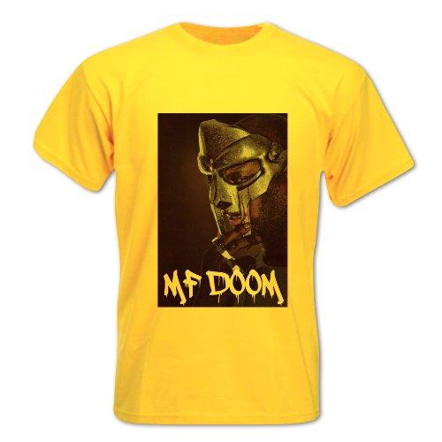 Bang Tidy Clothing Men'S Mf Doom Hip Hop Rapper T Shirt Yellow L