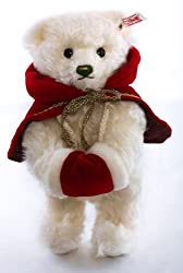Steiff 2012 White Mohair Christmas Teddy Bear
