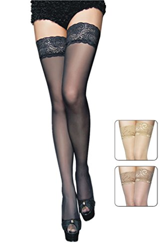 Sidefeel Women's Sexy Thigh-high Stockings Hold-ups