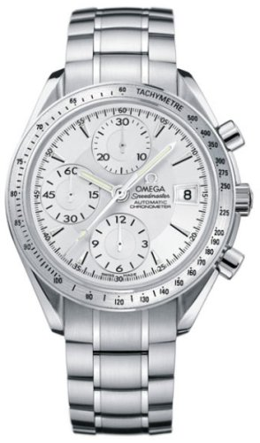 Buy Omega Speedmaster Mens Silver Dial Tachymeter Bezel Stainless Steel Automatic Chronograph Watch 3211.30