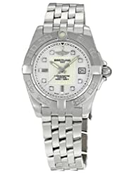 Discounted Breitling Galactic 32 Mother of Pearl Diamond Dial Ladies Watch A71356L2-A708SS Limited time