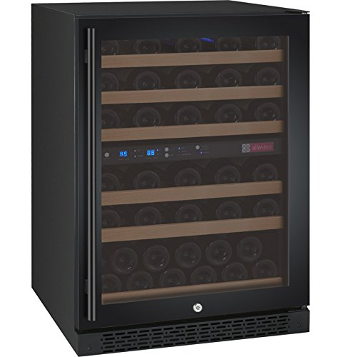 Learn More About Allavino FlexCount VSWR56-2BWRN Black 56 Bottle Dual Zone Wine Refrigerator Right H...