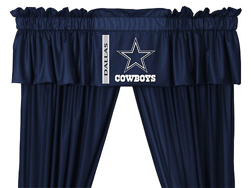 NFL Dallas Cowboys - 5pc Jersey Drapes-Curtains and Valance Set