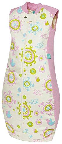 ergoPouch TRU 2.5 TOG Organic Cotton Quilt Sleeping Bag, Pink Floral, 12-36M - 1