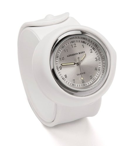 Addison Ross Unisex Quartz Watch with White Dial Analogue Display and White Silicone Strap WA0061