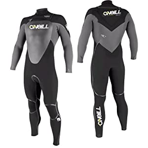 O'Neill Mutant 4/3mm Hooded Wetsuit - black/carbon-black L