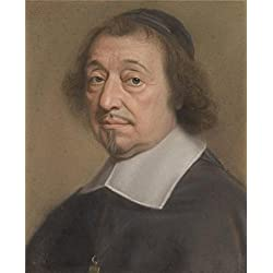 High Quality Polyster Canvas ,the High Quality Art Decorative Prints On Canvas Of Oil Painting 'Portrait Of Monseigneur Louis Doni D'Attichy,1663 Bishop Of Riez, By Robert Nanteuil', 18x22 Inch / 46x56 Cm Is Best For Home Office Decoration And Home