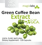 Pure Green Coffee Bean Extract with GCA??? - 100% Pure - Double Strength 800mg - 120 Vegetarian Capsules - Full 60 Day Supply of 1,600mg Daily Servings - An All Natural Weight Loss Supplement - 100% Money Back Guarantee!