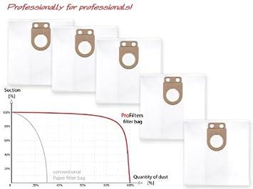 4 Filter-säcke passend für Starmix GS L-1435 PZ Staubbeutel Filtersack Staubsack