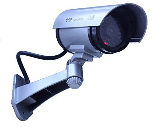 Review Of chorbros® Fake Security Camera Silver Illuminating LEDS