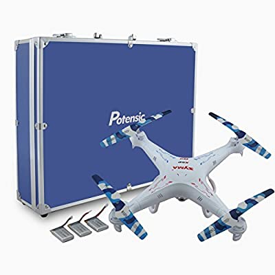 Potensic Premium Upgraded X5C-1 Syma 2.4GHz CH 6 Axis Gyro RC Quadcopter with Additional Spare Parts and Carrying Case