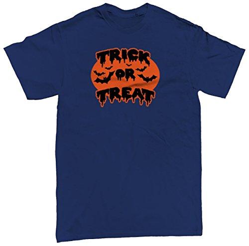 Trick Or Treat Bats Men's T-shirt, SpiritForged Apparel, Navy 3XL (Spirit Halloween Sf)