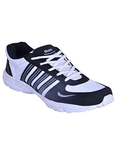 Smithsoul White & Black Sports Shoes