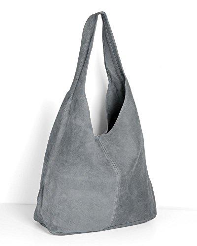imiloa-lederhandtasche-tasche-shopper-grau-wildleder-handtaschen-schultertaschen-beuteltasche-leder-