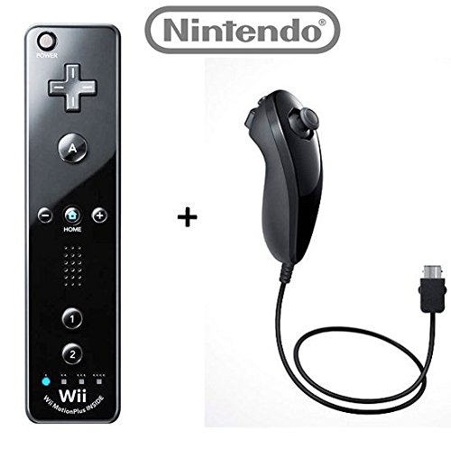 Official-Nintendo-WiiWii-U-Remote-Plus-Controller-and-Nunchuk-Nunchuck-Combo-Bundle-Set-Black-Bulk-Packaging