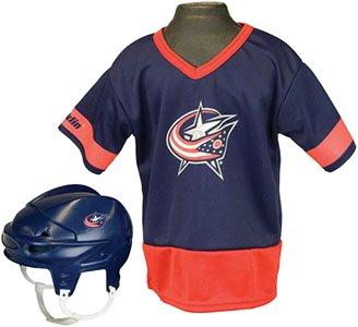 [NHL® Kids Team Set NHL Team: Columbus Blue Jackets] (Male Football Player Costume)