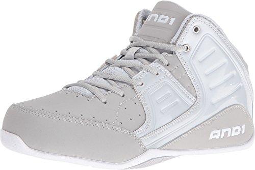AND1 Men's Rocket 4 Glacier Grey/Glacier Grey/Bright White Sneaker 10.5 D (M)