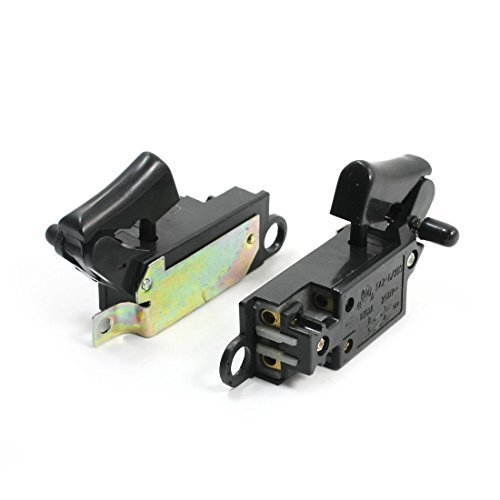 2-PCS-Handbettigung-Locking-Winkelschleifer-Schalter-fr-Hitachi-G15SA