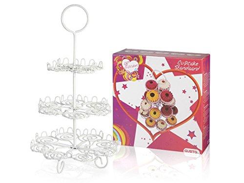 Cupcake-soporte para 18 magdalenas-pisos bandeja molde magdalenas