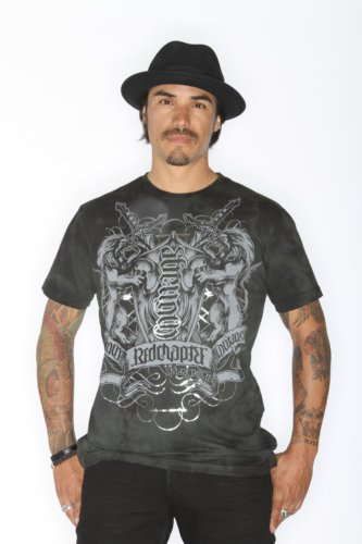 Red Chapter Mens Strength Courage Ambigram Shirt Green Size: Large
