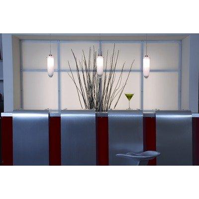 Access Lighting 531RJ-WTP Bella Teardrop Glass Mini Pendant Light